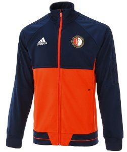 Jaqueta oficial Adidas Feyenoord 2017 2018 Azul e vermelha