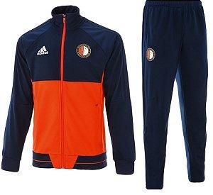 Kit treinamento oficial Adidas Feyenoord 2017 2018 azul e vermelho