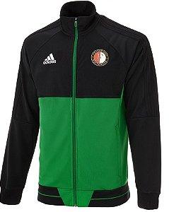 Jaqueta oficial Adidas Feyenoord 2017 2018 Verde e preta
