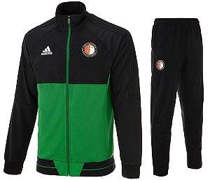 Kit treinamento oficial Adidas Feyenoord 2017 2018 verde e preto