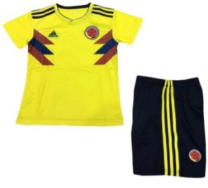 Kit infantil oficial Adidas seleção da Colombia 2018 I jogador