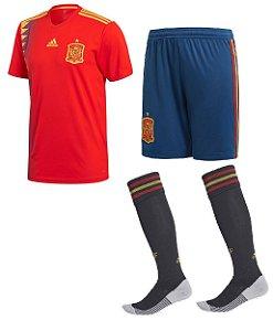 Kit adulto oficial Adidas seleção da Espanha 2018 I jogador