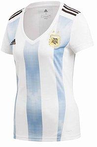 Camisa feminina oficial Adidas seleção da Argentina 2018 I