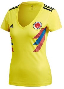 Camisa feminina oficial Adidas seleção da Colombia 2018 I