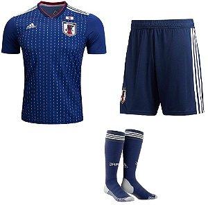 Kit adulto oficial Adidas seleção do Japão 2018 I jogador