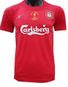 Camisa retro Reebok Liverpool 2004 2005 I jogador Final Champions League