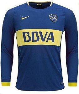 Camisa oficial Nike Boca Juniors 2017 2018 I jogador manga comprida