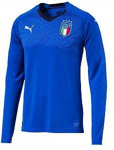 Camisa oficial Puma seleção da Itália 2018 I jogador manga comprida