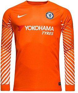 Camisa oficial Nike Chelsea 2017 2018 I Goleiro manga comprida