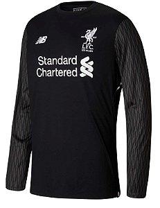 Camisa oficial New Balance Liverpool 2017 2018 I Goleiro manga comprida
