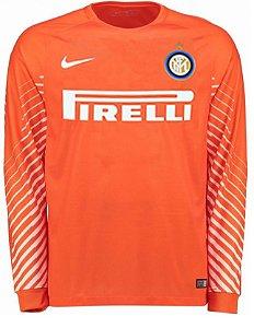 Camisa oficial Nike Inter de Milão 2017 2018 I goleiro manga comprida