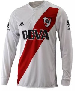 Camisa oficial Adidas River Plate 2017 2018 II jogador manga comprida