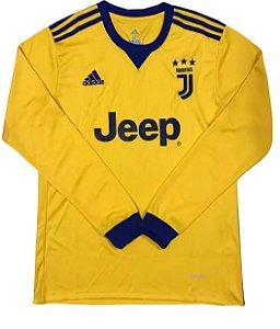Camisa oficial Adidas Juventus 2017 2018 II jogador manga comprida
