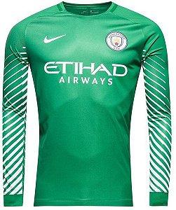 Camisa oficial Nike Manchester City 2017 2018 I Goleiro manga comprida
