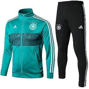 Kit treinamento oficial Adidas seleção da Alemanha 2018 Verde e preto