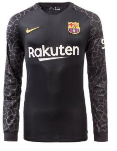Camisa oficial Nike Barcelona 2017 2018 II goleiro manga comprida