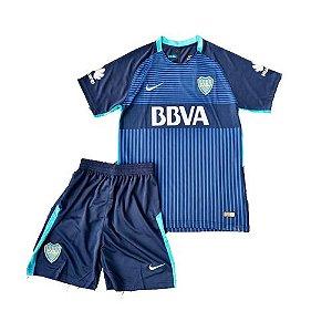 Kit infantil oficial Nike Boca Juniors 2017 2018 III jogador