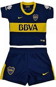 Kit infantil oficial Nike Boca Juniors 2017 2018 I jogador