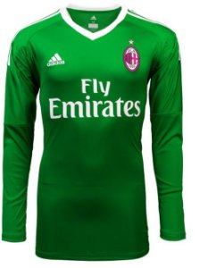 Camisa oficial Adidas Milan 2017 2018 I goleiro manga comprida