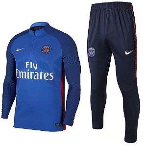 Kit treinamento oficial Nike PSG 2017 2018 Azul claro marinho