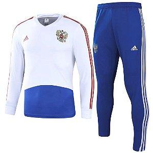 Kit treinamento oficial Adidas seleção da Rússia 2018 Azul e branco