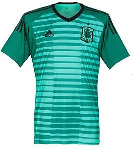 Camisa oficial Adidas seleção da Espanha 2018 I goleiro