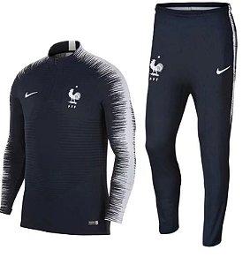 Kit treinamento oficial Nike seleção da França 2018 Azul
