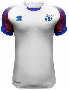 Camisa oficial Errea seleção da Islandia 2018 II jogador