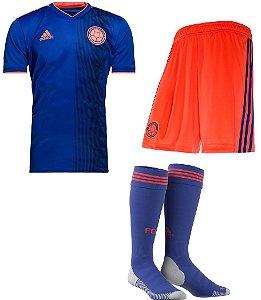 Kit adulto oficial Adidas seleção da Colombia 2018 II jogador