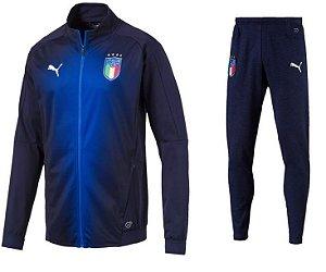 Kit treinamento oficial Puma seleção da Itália 2018 Azul