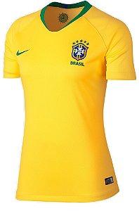 Camisa feminina oficial Nike seleção do Brasil 2018 I
