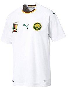 Camisa oficial Puma seleção de Camarões 2018 II jogador