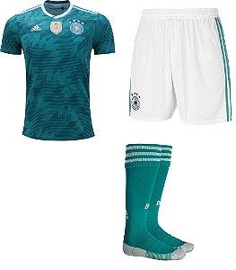 Kit adulto oficial Adidas seleção da Alemanha 2018 II jogador