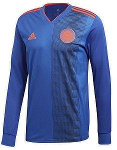 Camisa oficial Adidas seleção da Colombia 2018 II jogador manga comprida
