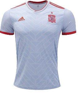 Camisa oficial Adidas seleção da Espanha 2018 II jogador