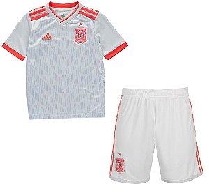 Kit infantil oficial Adidas seleção da Espanha 2018 II jogador