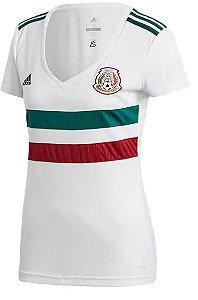 Camisa feminina oficial Adidas seleção do México 2018 II