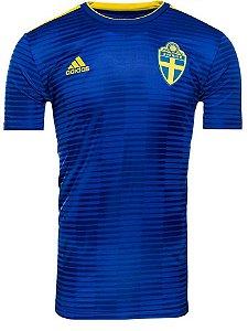 Camisa oficial Adidas seleção da Suécia 2018 II jogador