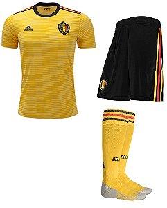 Kit adulto oficial adidas seleção da Bélgica 2018 II jogador