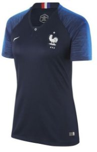 Camisa feminina oficial Nike seleção da França 2018 I