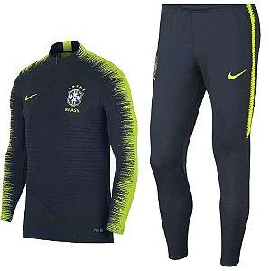 Kit treinamento oficial Nike seleção do Brasil 2018 Preto e verde