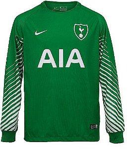Camisa oficial Nike Tottenham 2017 2018 I goleiro manga comprida