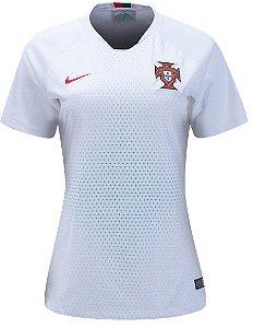 Camisa feminina oficial Nike seleção de Portugal 2018 II