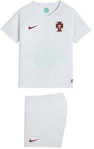 Kit infantil oficial Nike seleção de Portugal 2018 II jogador