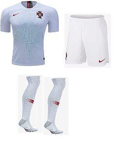 Kit adulto oficial Nike seleção de Portugal 2018 II jogador