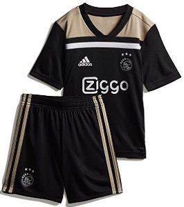 Kit infantil oficial Adidas Ajax 2018 2019 II jogador