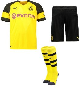 Kit adulto oficial Puma Borussia Dortmund 2018 2019 I jogador