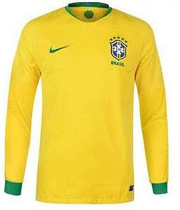 Camisa oficial Nike seleção do Brasil 2018 I jogador manga comprida