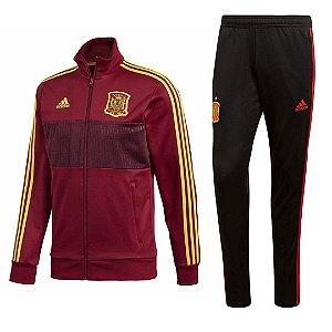 Kit treinamento oficial Adidas seleção da Espanha 2018 Vermelho e preto