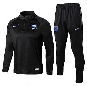 Kit treinamento oficial Nike seleção da Inglaterra 2018 preto